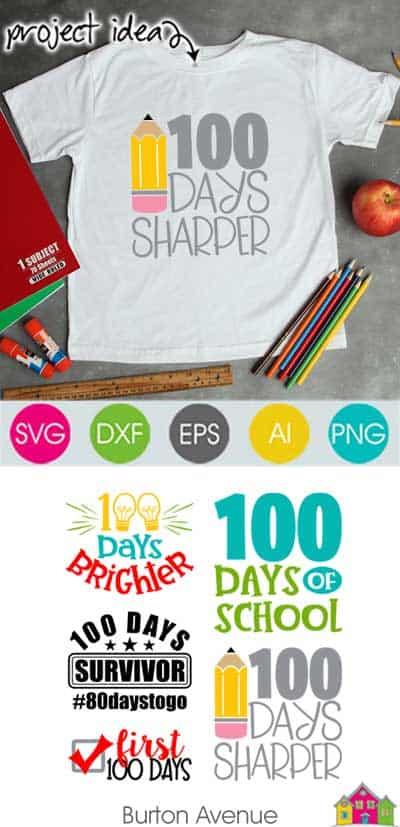 100 Days of School SVG Files