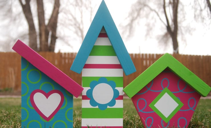 DIY Faux Birdhouses for Silhouette and Cricut | Spring Decor for Silhouette and Cricut