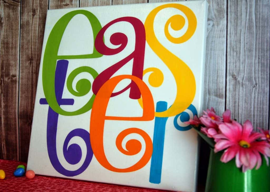 How to stencil on canvas with a Silhouette or Cricut