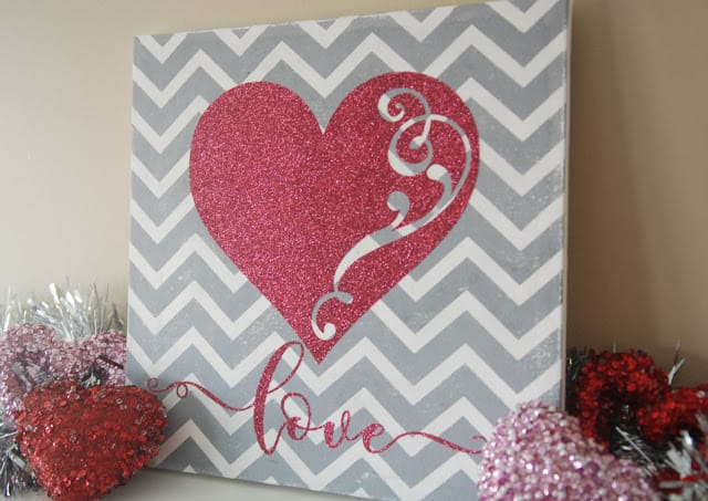 Make this cute and easy DIY Valentine's Day project with your silhouette, cricut, or other electronic cutting machine.