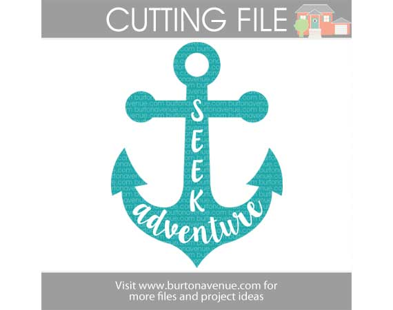 Seek Adventure Anchor Free SVG Cut File for Silhouette and Cricut