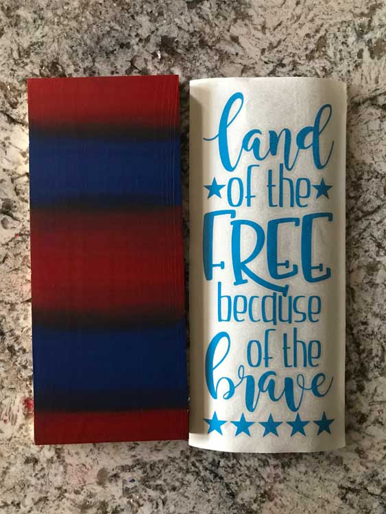 Land of the Free Because of the Brave - Free Patriotic cut file for Silhouette and Cricut
