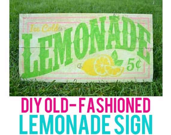 Make your own lemonade stand sign with this easy to follow tutorial. With just a little paint, you can transform a boring piece of wood into a fresh, cool, summertime decoration.