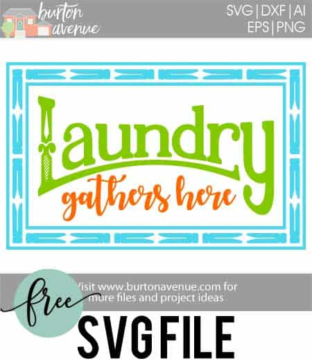 Free SVG files for Cricut & Silhouette   Laundry Room Wash Room SVG Files