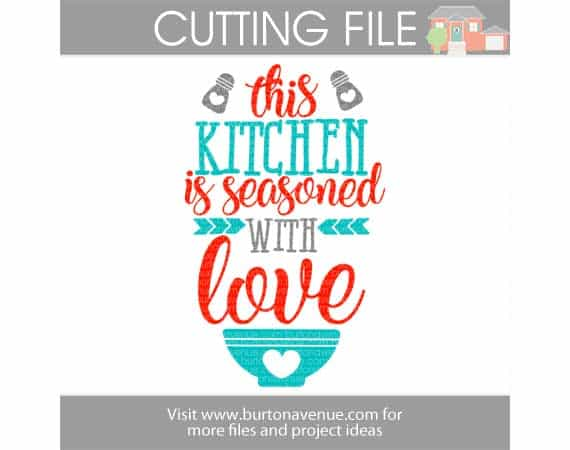 View This Kitchen Is Seasoned With Love Svg Cutting Files PNG