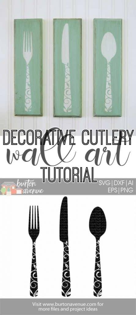 Decorative Cutlery Wall Art Tutorial And Free Svg Cut File Burton Avenue