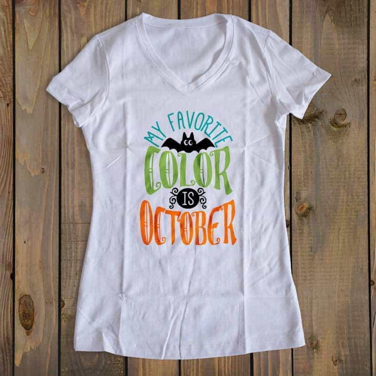 Free Svg Cut File My Favorite Color Is October Burton Avenue