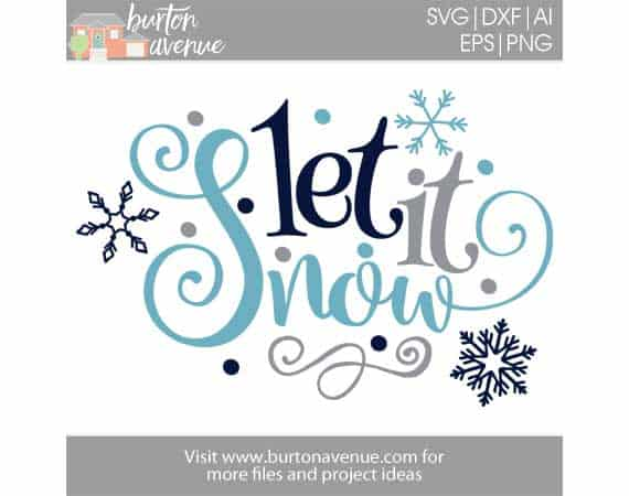Winter SVG Commercial Use Cut File Instant Download Let It Snow SVG Cutting File svg dxf eps png