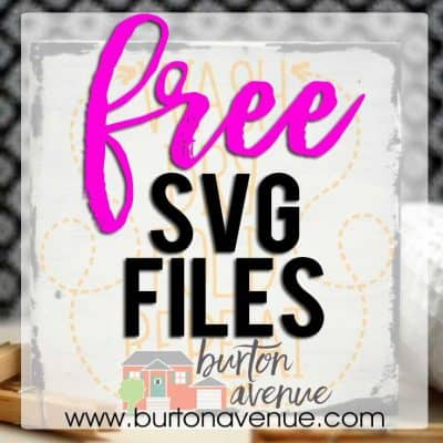 Free SVG Files for SIlhouette, Cricut, and other electronic Cutters
