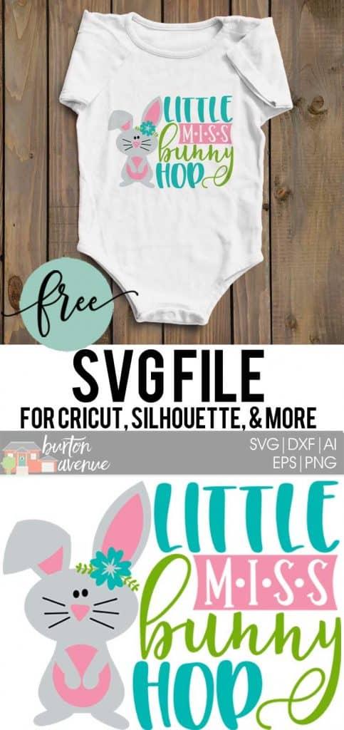 Free Svg Cut File Little Miss Bunny Hop Burton Avenue