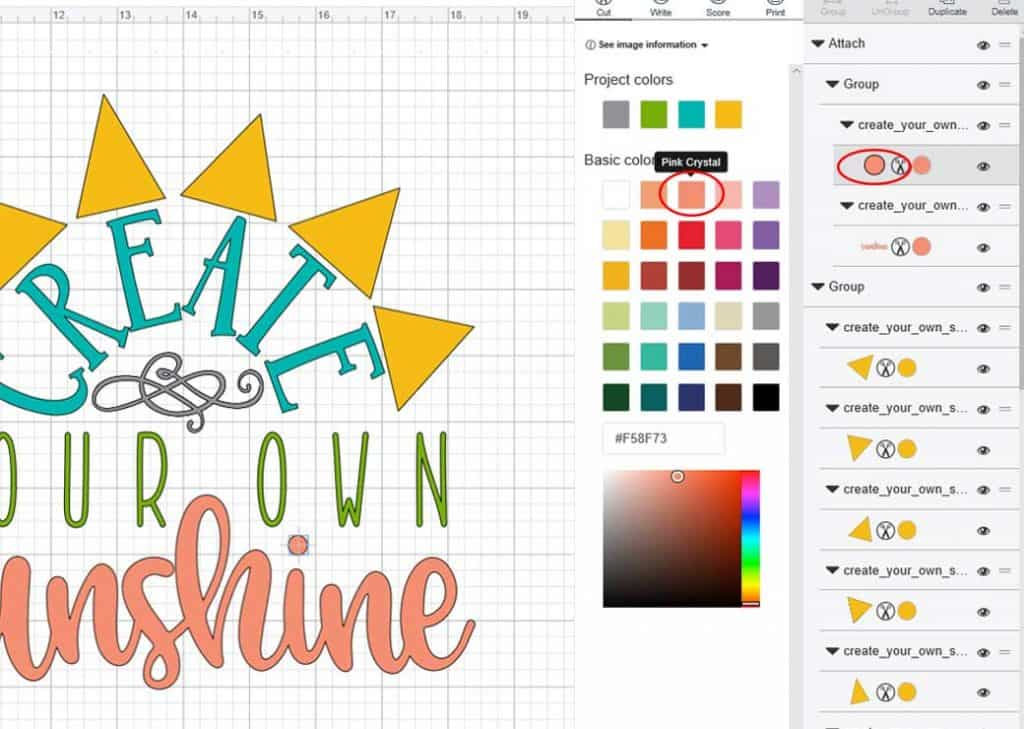 Learn how to cut Multi-Colored Designs in Cricut Design Space with this step by step tutorial