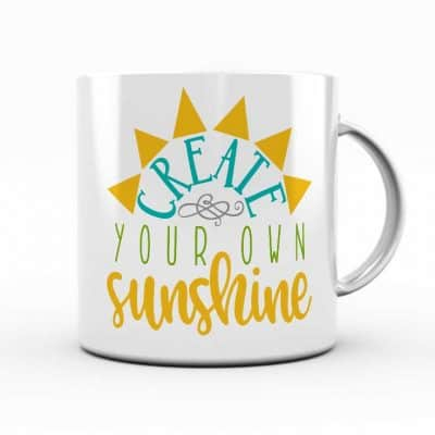 So many possibilities of DIY projects with this FREE Create Your Own Sunshine SVG file download. Make t-shirts, mug, signs, pillows, and more with this FREE SVG file. Create Your Own Sunshine SVG, PNG, EPS & DXF download. Create Your Own Sunshine SVG file, Free SVG file works with Cricut, Cameo Silhouette and other major cutting machines. Free cut file download