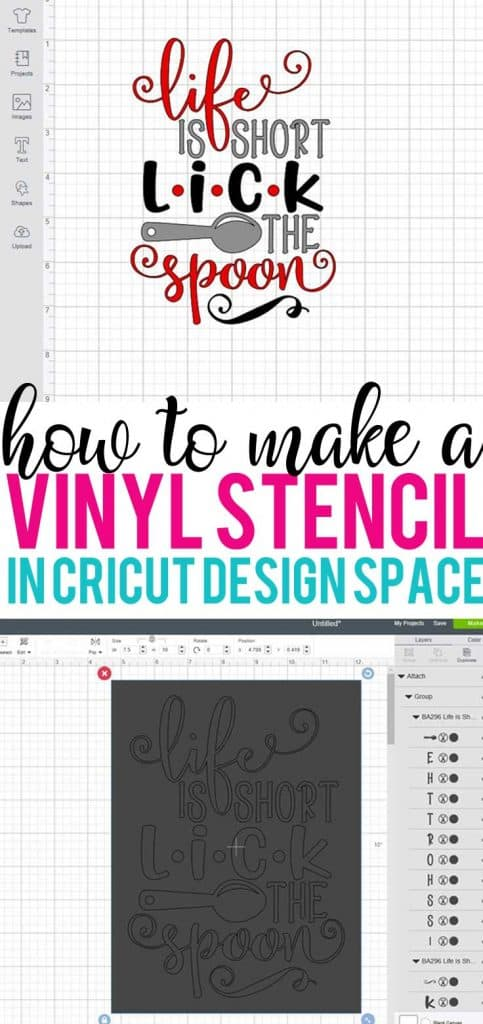 Learn how to make a vinyl stencil in Cricut Design Space with this step by step tutorial.