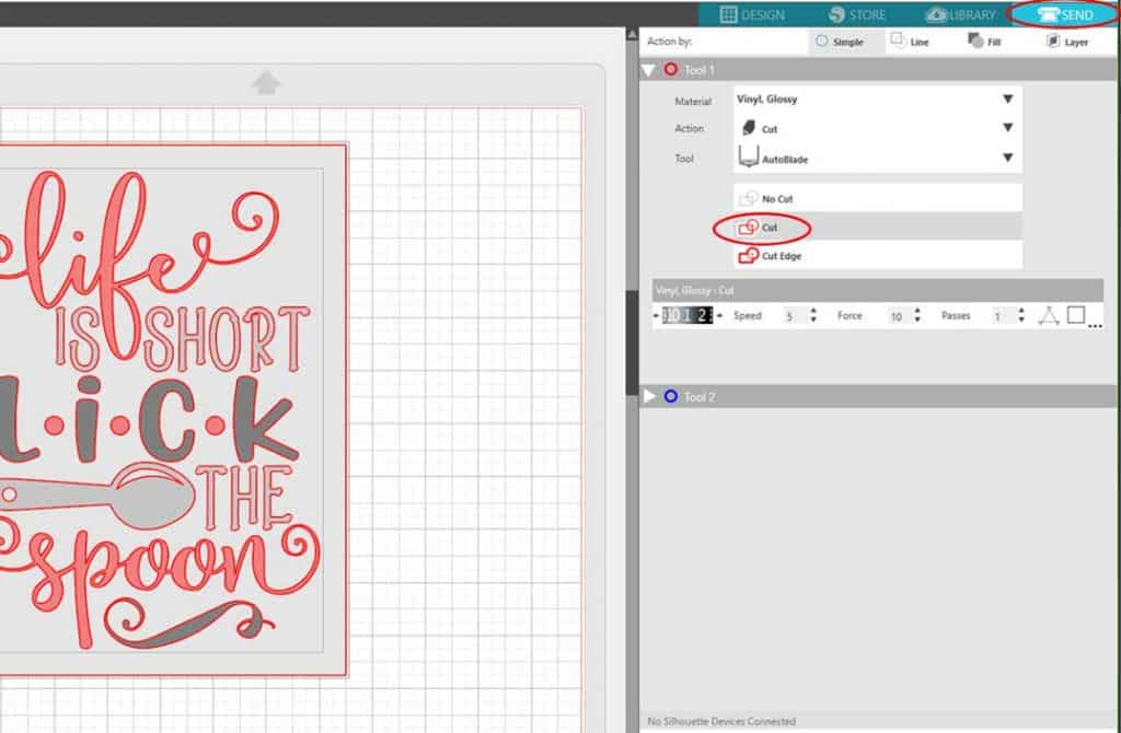 Learn how to make a vinyl stencil in Silhouette Studio with this step by step tutorial.