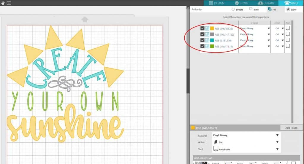 Learn how to cut Multi-Colored Designs in Silhouette Studio with this step by step tutorial