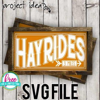 #hayridessvg #fallsvg #silhouette #cricutexplore. So many possibilities of DIY projects with this Free Hayrides SVG File. Make signs, pillows, t-shirts and more for with this Free Hayrides SVG file. Free Ai, SVG, PNG, EPS & DXF download. Free Hayrides SVG files works with Cricut, Cameo Silhouette and other major cutting machines.