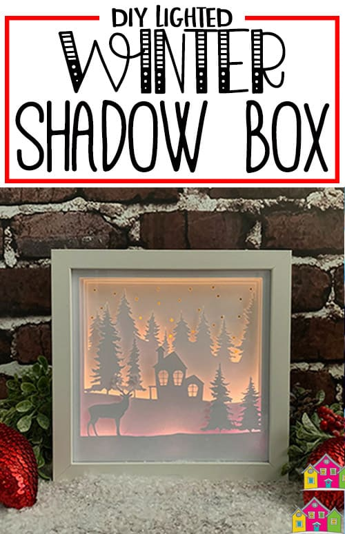 3D Lighted Winter Shadow Box