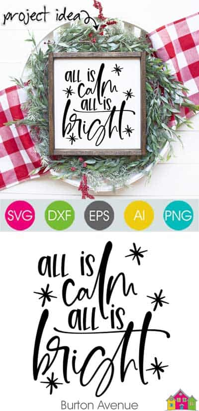 All is Calm All is Bright SVG File