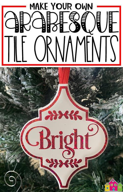 DIY Easy Arabesque Tile Ornaments