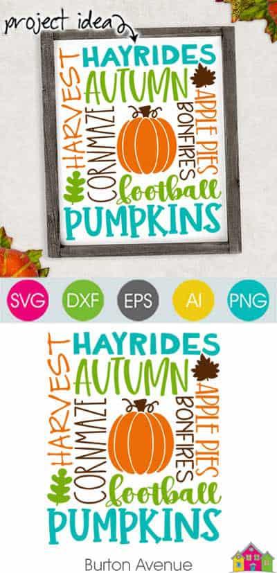 Autumn Subway Art SVG File
