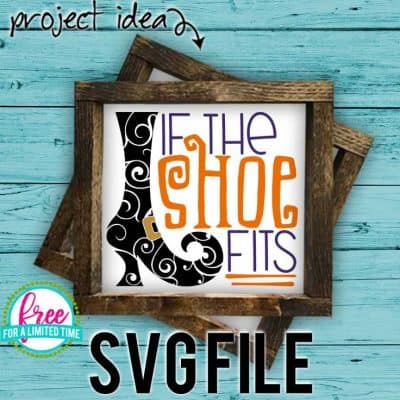 So many possibilities of DIY projects with this Free If the Shoe Fits SVG. Make signs, pillows, t-shirts and more for with this Free If the Shoe Fits SVG file. Free Ai, SVG, PNG, EPS & DXF download. Free If the Shoe Fits SVG files works with Cricut, Cameo Silhouette and other major cutting machines. #halloweensvg #iftheshoefitssvg #silhouette #cricutexplore