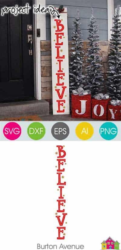 Believe Vertical SVG File