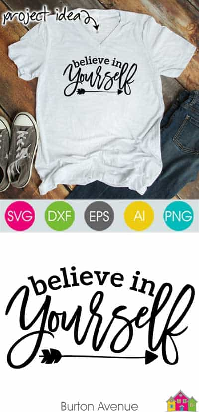 Believe in Yourself SVG File