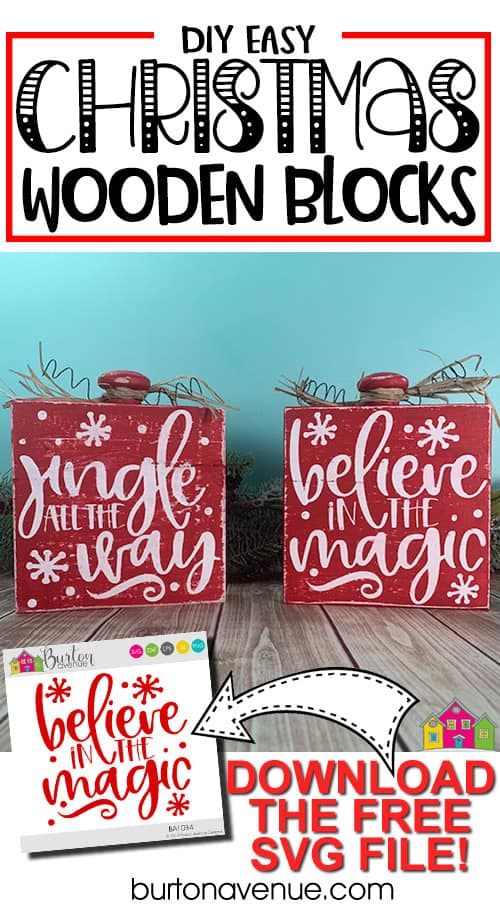 DIY Easy Christmas Blocks