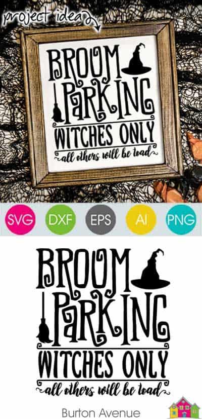 Broom Parking SVG File