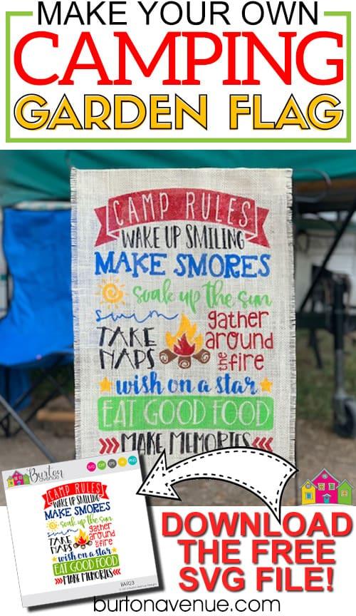 DIY Camping Garden Flag