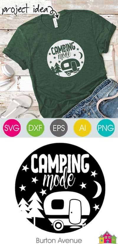 Camping Mode SVG File