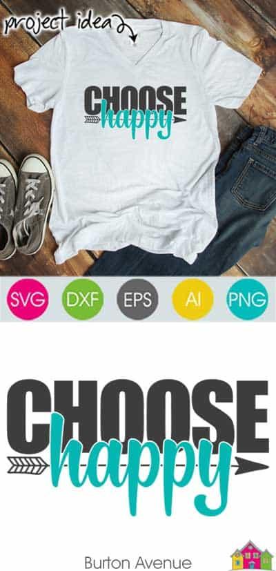 Choose Happy SVG File