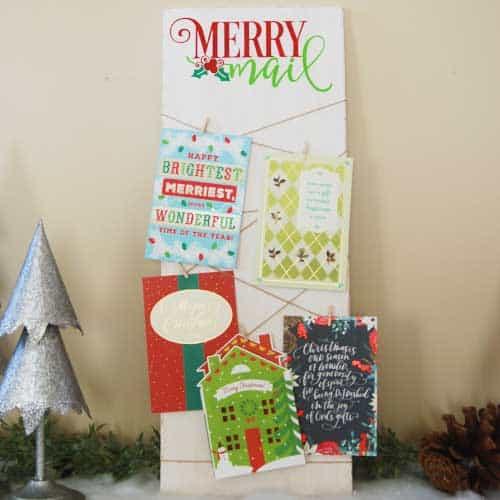 Diy Christmas Card Photo Holder Burton Avenue