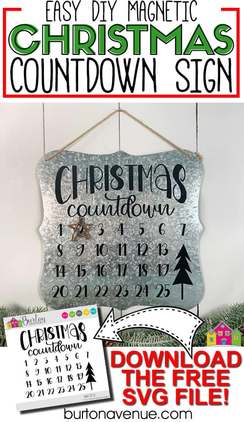 Easy Magnetic Christmas Countdown Sign