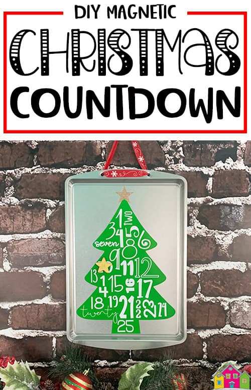 Magnetic Christmas Tree Countdown Sign