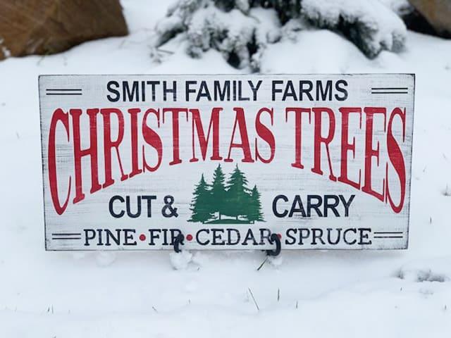 Diy Christmas Tree Farm Sign Burton Avenue