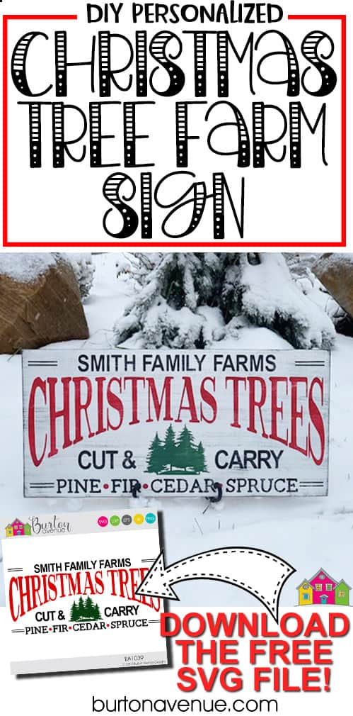 DIY Christmas Tree Farm Sign