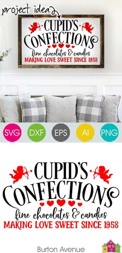 Cupids Confections SVG File