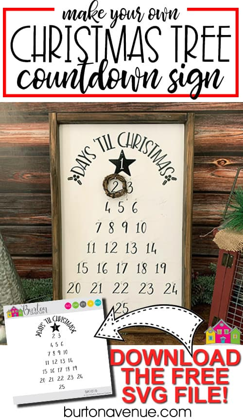 DIY Christmas Tree Countdown Sign