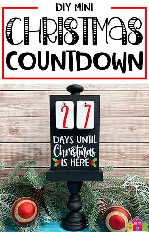 DIY Mini Christmas Countdown Sign