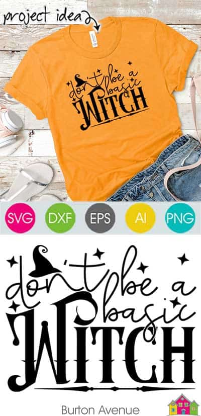 Don't be a Basic Witch SVG File