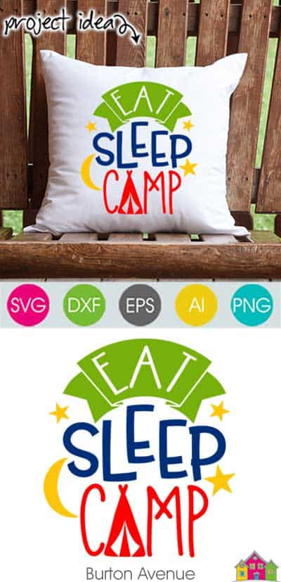 Eat Sleep Camp – Limited Time Free SVG File