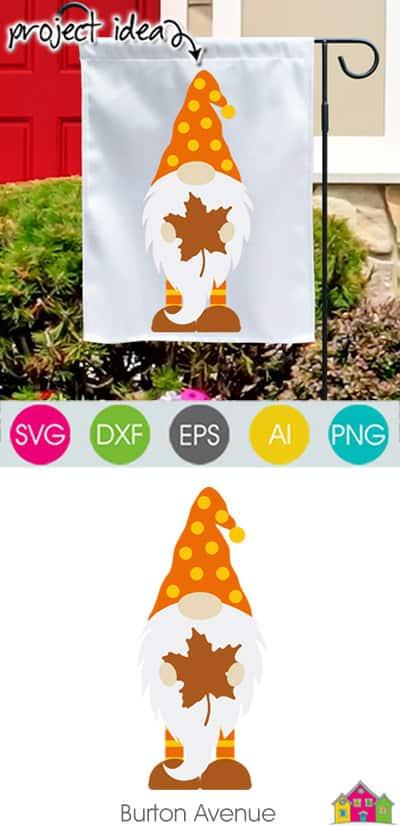 Fall Gnome SVG File