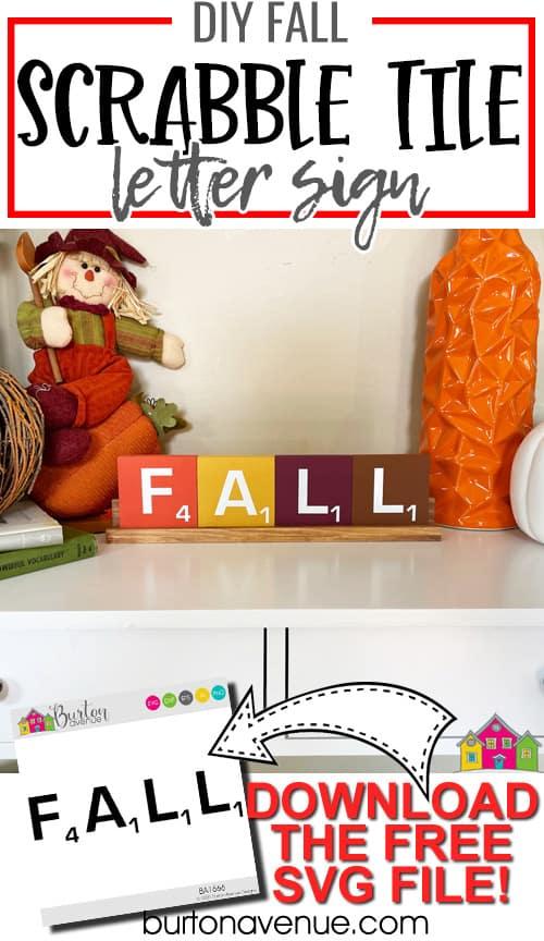 DIY Fall Scrabble Letter Sign