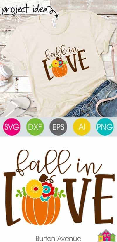 Fall in Love SVG File