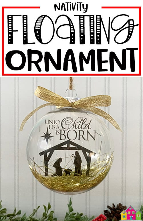 Floating Ornament with Nativity