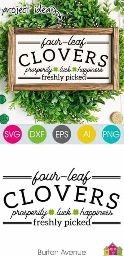 Four Leaf Clovers SVG File