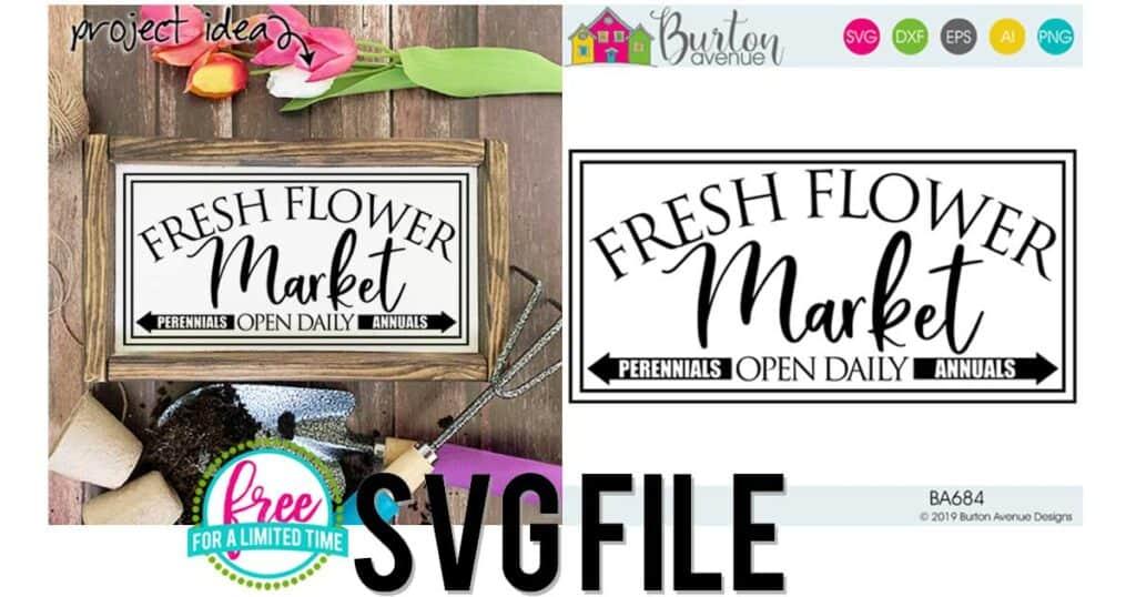 Fresh Flower Market SVG File