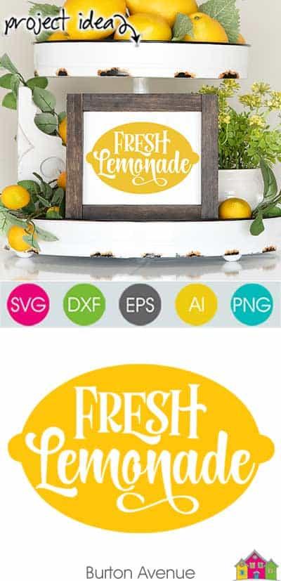 Fresh Lemonade SVG File