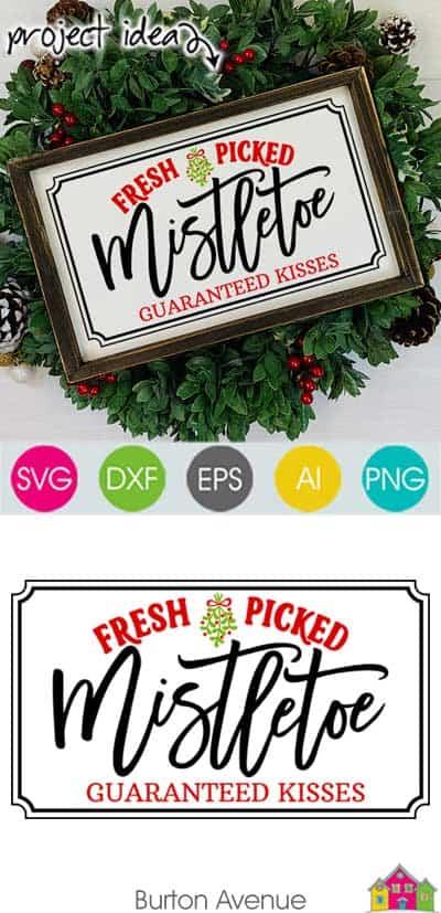 Fresh Picked Mistletoe SVG File